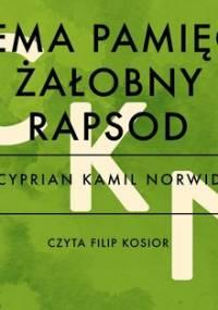 Bema pamięci żałobny rapsod - Norwid Cyprian Kamil